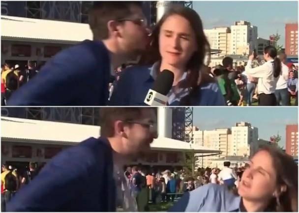 巴西女记者遇强吻 敏捷避开并且严厉教训男子,这已经不是第一次了