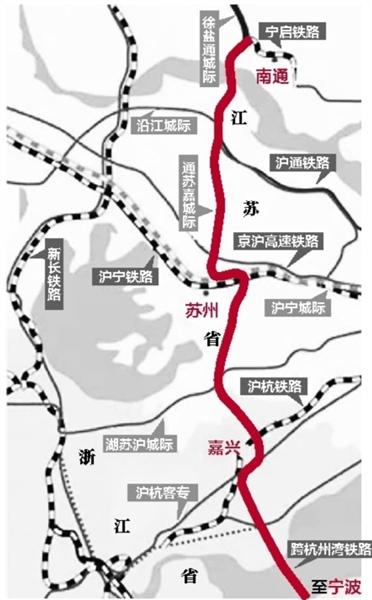 通苏嘉甬铁路招标启动 今后宁波坐高铁北上不兜圈
